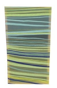 blue bound green (various sizes; 3 works) by jen pack