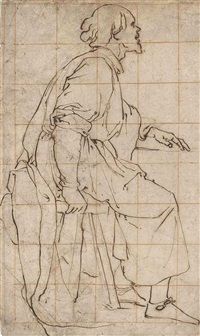 a seated apostle by lazzaro tavarone