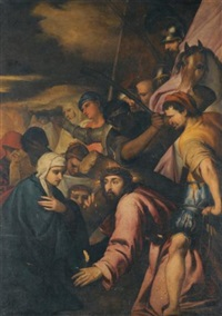 christ falls on the way to calvary by alonso cano