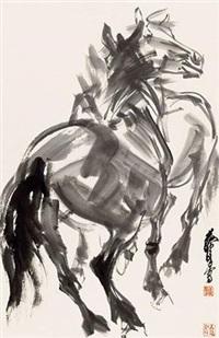 双骏图 by huang zhou