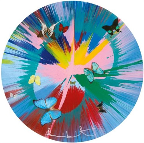 beautiful lovely stuff you make me feel all gooey like candy floss with butterflies by damien hirst