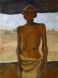 l'africaine devant sa porte by maurice le scouezec