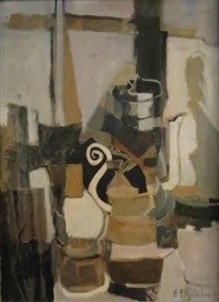 nature morte à la cafetière by r. raimbault