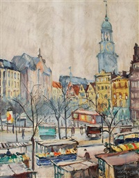 hamburg-großneumarkt by hugo volkwarth