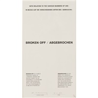 broken off by lawrence weiner