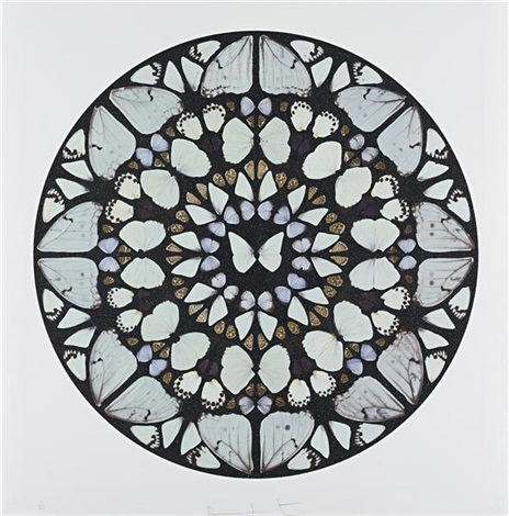 psalm print benedictus dominus by damien hirst