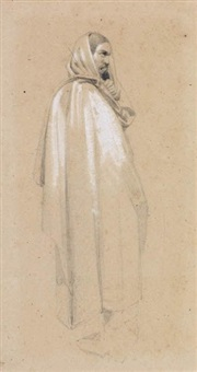 study of an arab by paul hippolyte delaroche