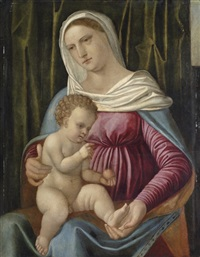 the madonna and child by romanino (girolamo romani)