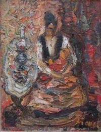 woman in an interior by yitzhak frenkel-frenel
