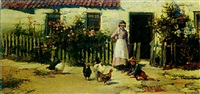 outside the cottage door by william gilbert foster