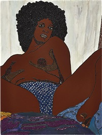 stop, look and listen by mickalene thomas
