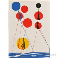 untitled (spheres and waves) by alexander calder