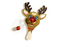rudolph the red-nosed reindeer, paddle ball game by jeff koons