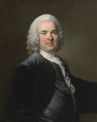 portrait of a man by louis tocqué