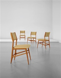 set of four chairs, model no. 687 by gio ponti