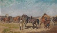 nordafrikanisches reiterlager by alexander ritter von bensa