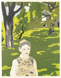 girl in the woods by fairfield porter