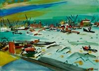 rotterdam harbor by jan van der zee
