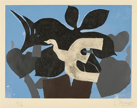 lordre des oiseaux set of 12 by georges braque