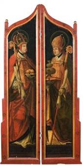 saint nicolas de bari et saint rupert (triptych) by hans maler
