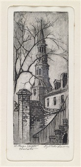 st. philips steeple (+ another; 2 works) by elizabeth o'neill verner