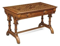 library table by howard & sons