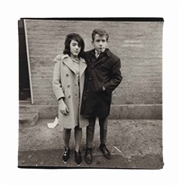 teenage couple on hudson street, n.y.c., 1963 by diane arbus