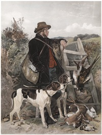 the scotch gamekeeper; the english gamekeeper (pair) by frederick stackpole
