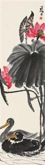 荷花双鸭 by xiao longshi