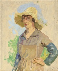 vendangeuse au chapeau jaune by frédéric bazille