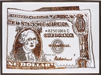 one dollar bill (after warhol) by vik muniz
