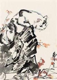猫石红叶 by huang zhou