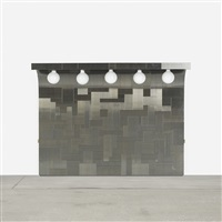 cityscape illuminated headboard by paul evans