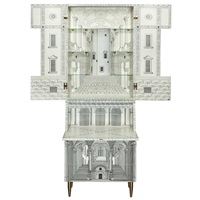 architettura secretary bookcase, designed, issued 1989 by gio ponti and piero fornasetti