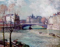 la seine, paris by gustaf albert