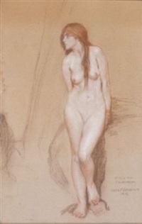 andromeda (study) by louis frederick berneker