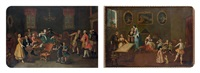 le concert and l'atelier de confection (2 works) by pietro longhi