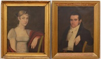 a gentleman and a lady (pair) by american school