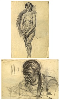 desnudo (recto) y retrato (verso) by francisco gimeno arasa