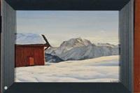 chalet et paysage de montagne by angelo abrate
