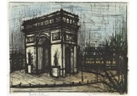 l'arc de triomphe from album paris by bernard buffet