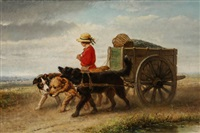 returning from the sea by henriette ronner-knip