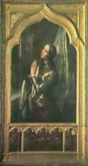joan of arc in prayer by hermann anton stilke