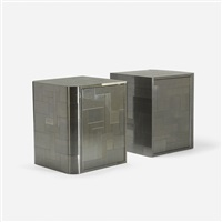 cityscape nightstands (pair) by paul evans