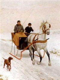 winter sleigh ride by jules antoine voirin