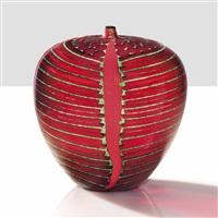 unique i quattro nastri rossi vase by yoichi ohira