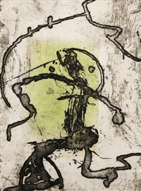 pl.10 (from cave paintings) by joan miró