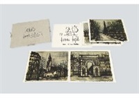 album paris (portfolio of 10 works) by bernard buffet