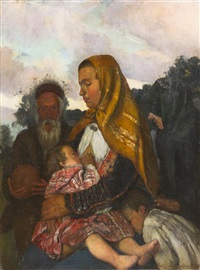 mother and child by charles edmond theodore milcendeau