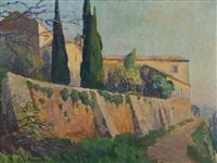 paysage dans le sud by mathilde du monceau de bergendae